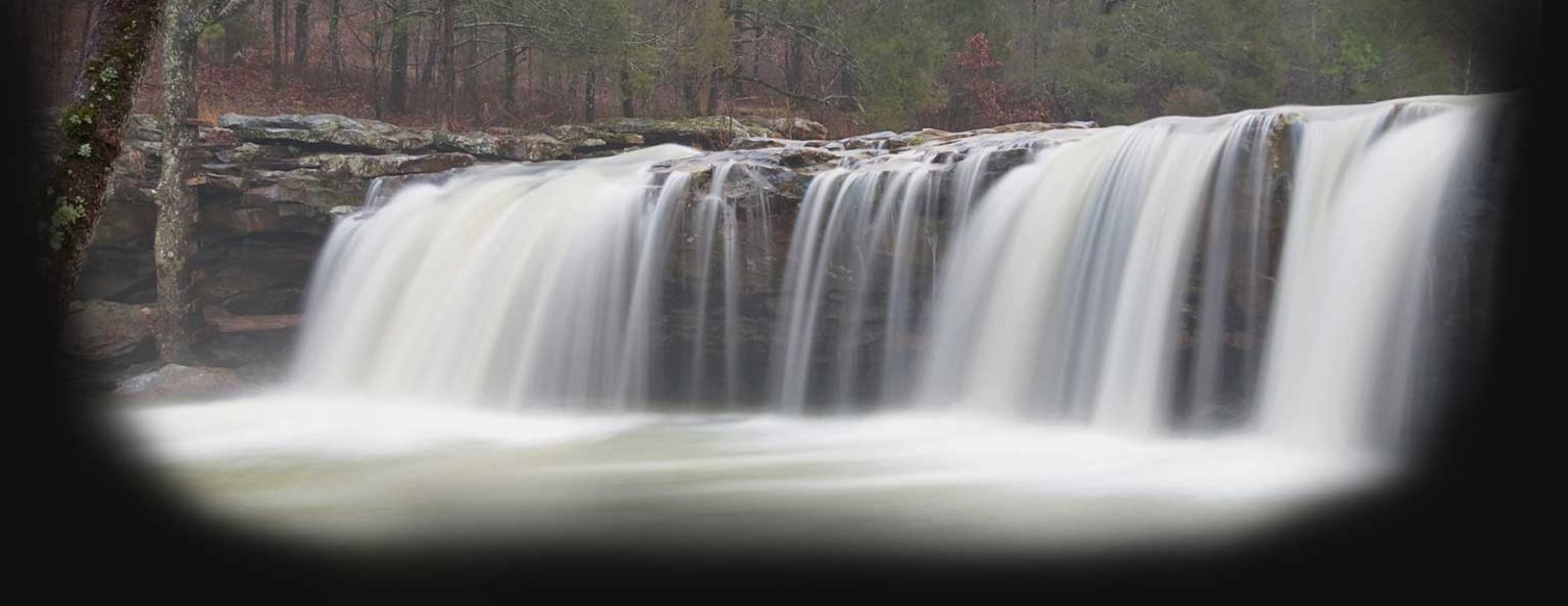 Image of a water fall from a river. - images provided by Jesse Hays